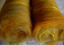 Softest Merino Silk Batts,FIELD,wet/needle/nuno felting,spinning fiber,wool,100g