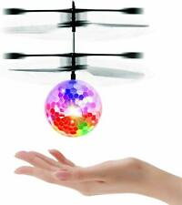RC Helicopter Flying Ball Colourful Infrared Induction Kids Flying Toy LED Light