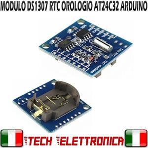 Modulo RTC DS1307 real time clock i2C Orologio Arduino PIC