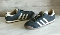 Adidas Originals City Series ROM Men's Black Leather Sneakers Rome Shoes Sz 8.5