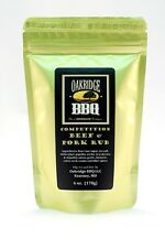 Oakridge BBQ Beef & Pork Dry Rub 6oz Resealable Packet Barbecue Meat Spice
