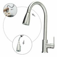 Kitchen Basin Sink 360 Swivel Pull Out Faucet Spray Hot & Cold Water Mixer Tap