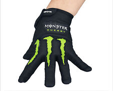New Monster Black Cycling Bicycle Bike Full Finger Gloves Size L