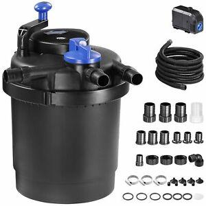 Druckteichfilter Teichfilter Teichdruckfilter 11 Watt UVC Klärer Filter Set