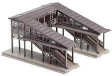 NEW ! N scale Faller 2-Track Platform Pedestrian Bridge : Building KIT # 222153