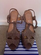 JEFFREY CAMPBELL California Handmade, Brown Suede Stud Sandals Size 4 NEW!