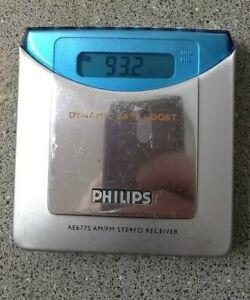 AM/FM pocket radio Philips AE6775 stereo receiver vintage