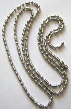 TWO 26 INCH STAINLESS BARREL STYLE STAINLESS STEEL CHAIN