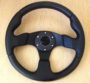 Black 320mm Sports Steering Wheel for MAZDA MX5 323 626 MX6 MX3 RX7 RX4