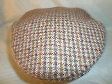 GENTS ENGLISH OUTDOOR COUNTY TWEED FLAT CAP FISHING HUNTING MADE IN ENGLAND