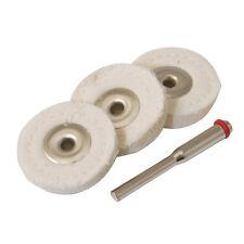 Silverline 25mm Loose Leaf Buffing Wheels 3 Piece Kit 656616 Craft DIY Tool