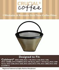 1 Washable Cuisinart GTF-C Goldtone #4 Cone Coffee Filter DCC-1200 DCC-1150