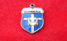 Sterling SILVER Charm Oberammergau Germany enameled SHIELD