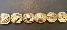 Oro Vintage Cowboy Oeste Slide Pulsera Caballo Botas Revólver Diamante Imitacion
