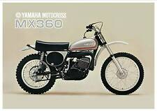YAMAHA Poster MX360 based on the RT3 VMX 1973 Superb Suitable to Frame