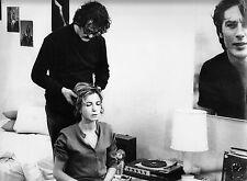 Photo originale Jacques Denis Bulle Ogier La salamandre tourne disque Delon