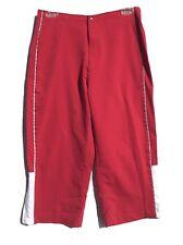 Cheetah Womens Capri Pants Athletic Size S Workout Red Elastic Waist Vintage