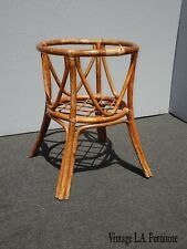 Vintage Mid Century Modern Bamboo Rattan Dining Table Base Tiki Palm Beach Style