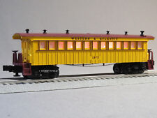 LIONEL LIGHTED GENERAL COACH TRAIN CAR 1875 O GAUGE western atlantic 6-82442 NEW