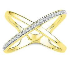 Nice! 100% 10K Yellow Gold & White Diamond Cage Style Ring .15ct - 3+ Grams Gold