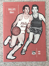 1952-53 Phillips 66 66ers Yearbook Signed Autographed by 13 Complete JSA LOA