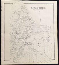 "1866 Saratoga County Ny ""Town of Edinburgh"" Beeches Hollow Antique Map Atlas"