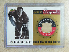 01-02 UD NHL Legends A Pieces Of History Sticks #PH-FM FRANK MAHOVLICH