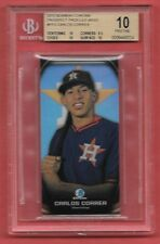 CARLOS CORREA~BGS 10 w/9.5~2015 Bowman Chrome Prospect Profiles Mini~Rookie RC