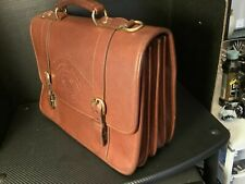 Ghurka Barrister No. 85. Vintage Chestnut leather bag.