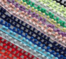 15yards Pompom Trim Pom Pom Tassel Ball Fringe Ribbon DIY Apparel mini Ball Mix