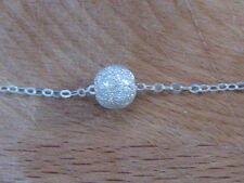 Silver ball necklace, sterling silver bead pendant, dot necklace, ball necklace,