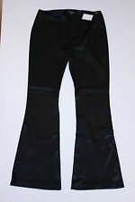 GUESS JEANS Sateen SHINY Black STRETCH Low Rise FLARE Zip Pants FREE SHIPPING