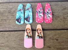Girls 3 Pairs Wafer Frozen Elsa Anna Olaf Hair Clips Hair Pins, Party Loot Bags