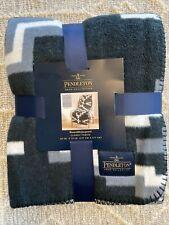 NEW Pendleton Home Collection Reversible Jacquard Classic Throw Otero BlackWhite