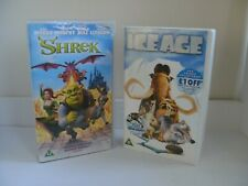 Shrek and Ice Age vhs videos.