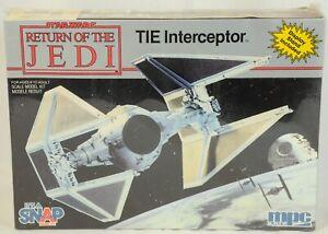 Vintage Star Wars Return of the Jedi TIE Interceptor Model Kit Factory Sealed