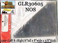 Tunnel Abutment Set - Random Stone (2pcs-Right/lLeft) GLR NOS On3/On30 Craftsman