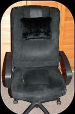 cuir Coussin pour nuque 35x25 poids kaninfell Coussin en cuir Chillout Deluxe