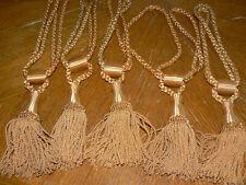 "Curtain Drape Heavy Braided Tassel Tie Backs (5) Vintage Gold 17"" EUC"