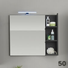 wandspiegel beach spiegel badmbel badezimmer bad in grau mit ablage
