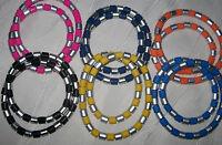 Kinder-Halskette, Surfer-Stil für Mädchen oder Jungs, silber-farben/bunt stretch