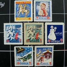 Norway WW2 NKS Christmas Seals, 1940-1945, MNH-Norwe​gian stamps-charity labels