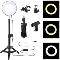 "ZOMEI 6"" Selfie Dimmable Ring Light for Video Shooting Makeup YouTube Portrait"