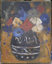 Quadro Olio mazzo di fiori 1940 André DELAHAIZE Poitou-Charentes Oléron