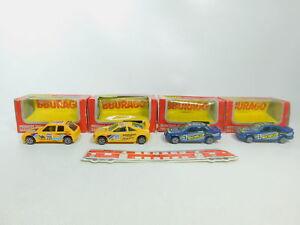 BO891-1 #4x Burago 1:43 Modelo: 4102MB 190 E+ 4116/4190 Peugeot, Muy Buen +