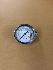 "2.5""Panel mount 0-300 glycerin filled pressure gauge with mounting bracket"
