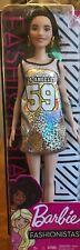 NEW 2018 Barbie Fashionista Doll  #110 Sparkly Los Angeles Jersey Dress