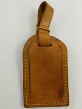 Louis Vuitton Vachetta Leather Luggage Tag And Strap With Brass Buckle Closure