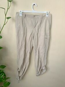 Columbia PFG Men's 10 Pants Performance Fishing Gear Beige Foldable