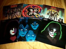 6 KISS LP LOT Rock N Roll Over Destroyer Love Gun Creatures Of The Night Solo